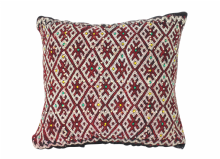 "Moroccan Cushion Vintage Kilim Stuffed  Wool  44 cm x 40 cm / 17"" x 16"" (VC319)"